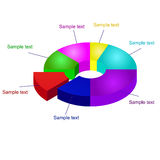 3D Pie Chart Vector Graphics. vector illustration