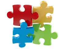 3d pieces of puzzle. Work concept Stock Images