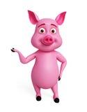 3d Pig presentation Stock Images