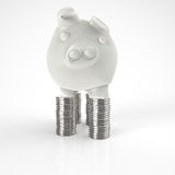 3d piggy bank as concept Stock Photo