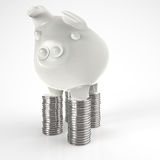 3d piggy bank as concept Stock Photos