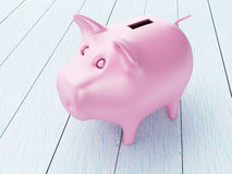 3d Piggy bank. Business and financial concept. Stock Photography