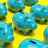 3d Piggy Bank Concept. Money Savings, Finance, Money Box, Budget,  Investments, Savings Account, Sale, Bank, Saving Money for Future Investment Concept Royalty Free Stock Photo