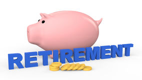 3d piggy bank retirement savings concept Royalty Free Stock Photography
