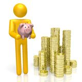 3D piggybank concept Stock Photos
