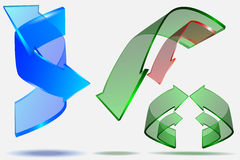 3d pijl creatief ontwerp Stock Foto's