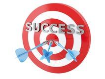 3d pijlen in doel Concept succes Stock Foto