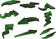 3d Pijlen Geplaatst Pak vector illustratie
