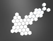 3D pijlen Het element van het ontwerp Stock Afbeelding