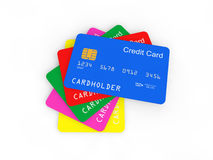 3d pile of credit cards Royalty Free Stock Photos