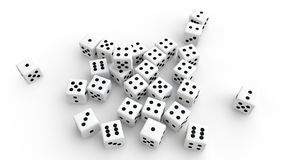3d pile of dices Royalty Free Stock Photo