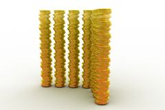 3d pile of gold concept Royalty Free Stock Image