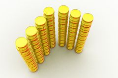 3d pile of gold concept Royalty Free Stock Images