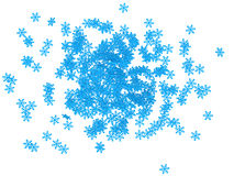 3d pile of snowflakes. 3d render of pile of snowflakes Stock Photos