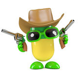 3d Pill dressed as a cowboy Royalty Free Stock Images