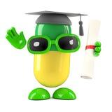 3d Pill graduates! Royalty Free Stock Images