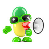 3d Pill with a megaphone Royalty Free Stock Photos
