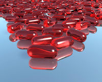 3D Pills Stock Photography