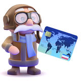 3d Pilot checkout Stock Photography