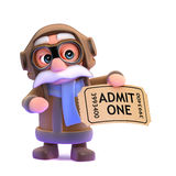 3d Pilot has a ticket to the show Stock Images