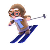 3d Pilot skiing Royalty Free Stock Photography