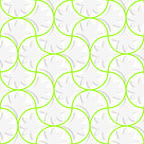 3D pin will grid with solid floral leaves. Seamless geometric background. Pattern with realistic shadow and cut out of paper effect.3D pin will grid with solid Royalty Free Stock Photos