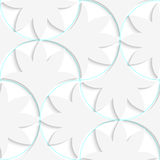 3D pin will solid floral leaves. Seamless geometric background. Pattern with realistic shadow and cut out of paper effect.3D pin will solid floral leaves Royalty Free Stock Image