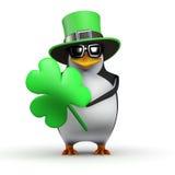 3d Pinguin St. Patricks Tages lizenzfreie abbildung