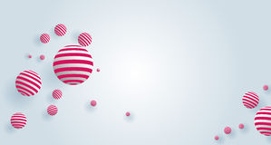 3d Pink balls on white background. Stock Photography