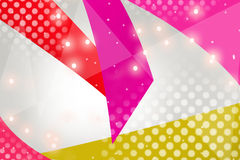 3d pink and blue hexagon overlap, abstract background Stock Photography