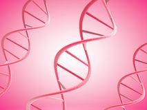 3d pink DNA strands Stock Images