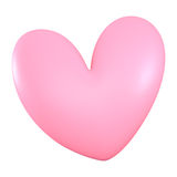 3D Pink heart color Royalty Free Stock Photos