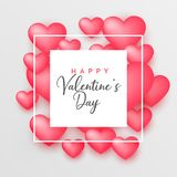 3d pink hearts beautiful background for valentine`s day. Illustration Royalty Free Stock Photography