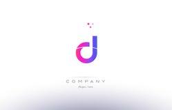 d pink modern creative alphabet letter logo icon template Stock Photo