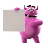 3D pink monster Royalty Free Stock Photo