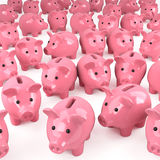 3d Pink piggy banks Royalty Free Stock Images