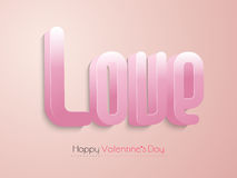 3D pink text for Happy Valentines Day celebration. Stock Photography