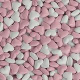 3d pink white hearts background stock illustration