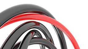 3d pipes. Pipes intersecting each other 3d abstract background Royalty Free Stock Image