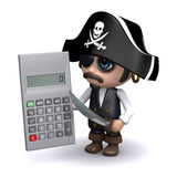 3d Pirate calculates Royalty Free Stock Image