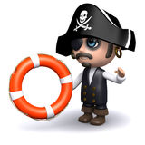 3d Pirate comes to the rescue Royalty Free Stock Photo
