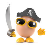 3d Pirate egg Royalty Free Stock Image