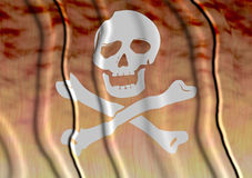 3d Pirate Flag Stock Photo
