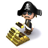 3d Pirate gold Royalty Free Stock Images