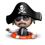 3d Pirate has been rescued Stock Photos