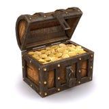 3d pirate le coffre au trésor Image stock