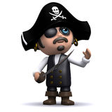 3d Pirate looks up Royalty Free Stock Images