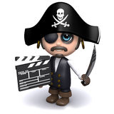 3d Pirate makes a movie Stock Images