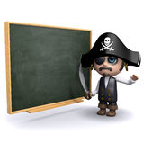 3d Pirate teacherq Stock Images
