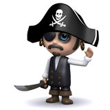 3d Pirate waves Royalty Free Stock Images